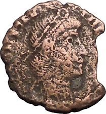 CONSTANTIUS II Constantine the Great son 337AD Ancient Roman Coin Battle i56094