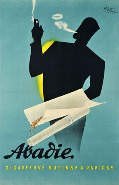 …Vintage Czech Poster Ad 'Abadie' by Abel - 1935…