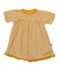 Loving this Popcorn Stripe Ruffle Swing Dress - Infant, Toddler & Girls on #zulily! #zulilyfinds