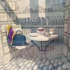 window display by Bramble Workshop for Hermes