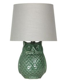 Another great find on #zulily! Deep Green Wise Owl Accent Lamp #zulilyfinds