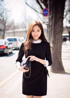 Find images and videos about model, ulzzang and kfashion on We Heart It - the app to get lost in what you love. Kim Jung, Learn Korean, Korean Girl, Ulzzang, Korean Fashion, High Neck Dress, Actresses, Model, Image