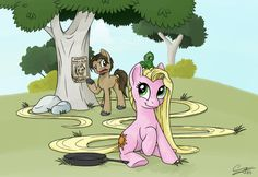 """""""My Little Pony"""" meets """"Tangled"""" (Flynn and Rapunzel)"""