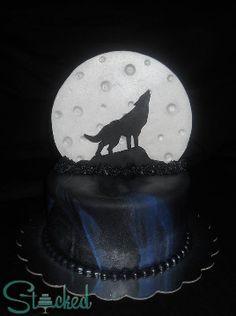 Howling wolf cake for Debra's birthday!