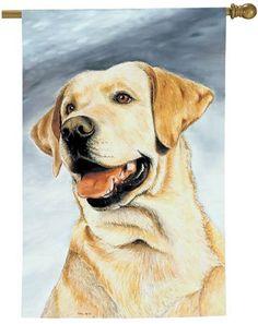 labrador retriever home decor | labrador retriever lab dog breed art flag 26 x 37 labrador retriever ...