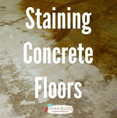 Staining Your Concrete Floor   TodaysCreativeBlog.net #LowesCreator