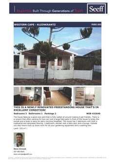 #seeff #kleinkrantz #forsale #property #wilderness #gardenroute #westerncape  This is a newly renovated freestanding house that's in excellent condition!  www.seeff.com/Details?webref=432640  Steve Vermaak 081 485 8943