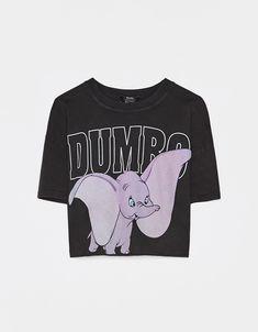 T-shirt cropped Dumbo - T-shirts - Bershka Portugal Cute Disney Outfits, Disneyland Outfits, Cute Outfits, Bershka Outfit, Tumblr T Shirt, Trendy Hoodies, Disney Inspired Fashion, Vetement Fashion, Purple Fashion