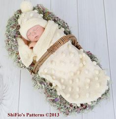 This is a unique item for a new baby, sometimes called a cocoon, papoose or swaddler. It is for parents struggling with the art of swaddling or can be used as a photography prop. It wraps your baby in warm softness and prevents little feet from coming uncovered.