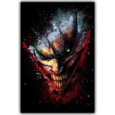 """Joker Batman Movie Poster Home Decor Silk Poster Picture Print Wall Decor 30x45cm 50x75cm"" Poster Pictures, Print Pictures, Joker Arkham, Joker Joker, Joker Face, Dc Comics Art, Joker And Harley Quinn, Floral Border, Rwby"