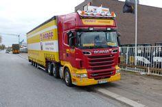 Pfaff Spezialtransporte Scania R 500 6x2/4 mit ESGE vierachs Volumenauflieger…