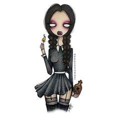 Halloween mood 🕸🕷🎃Wednesday Addams by amandalvaldes