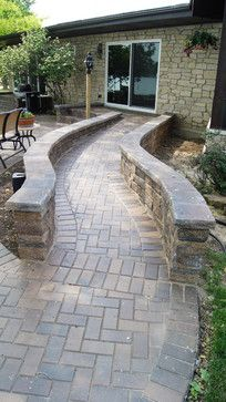 A nice way of adding a ramp to a patio accessibility for Garden design for disabled