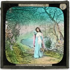 Laterna Magica (magic lantern) slide from 1907.  Photo is from c. 1800's colorized.
