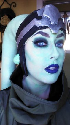 Twi'lek cosplay makeup