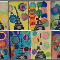 Lors de la période 5,nous avons travaillé surla Tour Eiffel et Delaunay! Voici la 1ère oeuvre que mes élèves ont fait: Je me suis inspirée du travail de Mitsouko . Lorsqu'elle a publié cet...