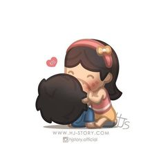 Love is :: Kiss Hj Story, Cute Love Stories, Love Story, True Stories, Anime Couples, Cute Couples, Cute Love Cartoons, Couple Cartoon, Chibi Couple