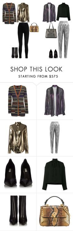 """TREND ALERT: LAME DAY"" by stylev ❤ liked on Polyvore featuring Missoni, PALLAS, Yves Saint Laurent, Vionnet, Balenciaga, Ermanno Scervino and Alaïa"