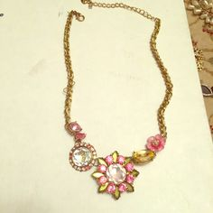 Betsey Johnson Necklace Cute and springy Betsey Johnson necklace! The colors are pink and green. So feminine! Betsey Johnson Jewelry Necklaces