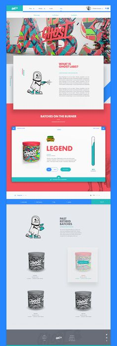Ui design concept for Ghost Protein Shakes eShop. Client comp: vote for your favorite supplement drink flavor and if they receive enough votes they will make it. By Nick Franchi.