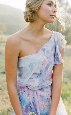 Plum Pretty Sugar Floral Bridesmaid Dresses | Photography by Jose Villa