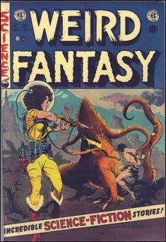 Weird Fantasy #21, September 1953. Cover art by Frank Frazetta and Al Williamson.