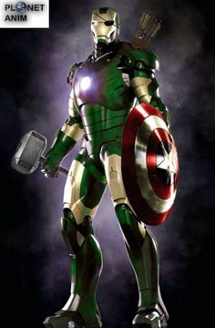 """Mindblowing. In an eerie, terrible sort of, """"it's just wrong to see a Hulked-out Iron man suit capable of wielding both Mjolnir and Cap's shield"""" way."""