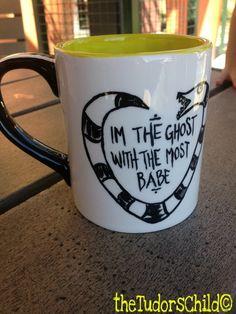 Beetlejuice Mug by thetudorschild on Etsy https://www.etsy.com/listing/163123986/beetlejuice-mug