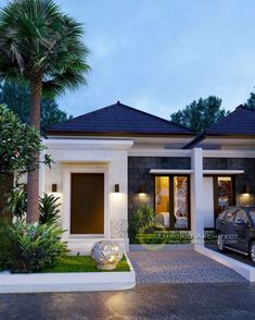 Architecture Discover 13 Gorgeously Minimalist Home Design Ideas Minimalist House Design, Small House Design, Modern House Design, Minimalist Decor, Ubud, Residential Building Design, Modern Bungalow House, Bungalow Exterior, Facade House