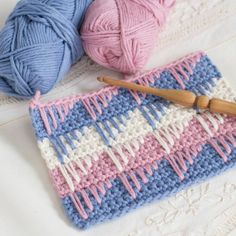 Crochet spike stitch ~ Free Patterns