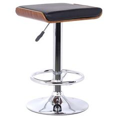 Java Adjustable Barstool - Black - Armen Living add 2 of these to the crate and barrel schoolhouse barstools