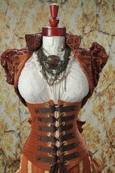 Damsel in this Dress steampunk wench corset