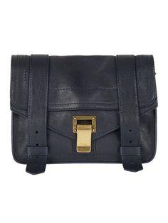 Proenza Schouler Mini Shoulder Bag In Midnight Satchel, Crossbody Bag, Shoulder Strap, Shoulder Bags, Proenza Schouler, Bucket Bag, Messenger Bag, Leather Bags, Mini