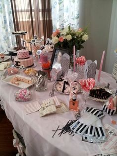 My cousins Coco Chanel theme Bridal Shower.