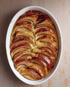Pear and Chocolate Brioche Bread Pudding Recipe