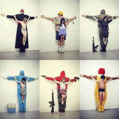 "Pedophilia in Vatican. Child sexual abuse in tourism in Thailand. War in Syria Trafficking of organs on the black market, most victims are poor children Freedom of Weapons in US US Obesity Cuban artist Erik Ravelo // ""The untouchables"" Photo Choc, Thailand Tourism, Les Religions, Political Art, Political Advertising, Political Cartoons, Powerful Images, Powerful Art, New Series"
