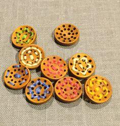 Joe's Toes - Pierced Wooden Button