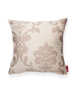 Tan Floral Decorative Throw Pillow//