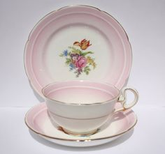Royal Grafton bone china  pink trio ombre by WhiteSpaceVintage, $20.00