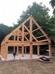 5 Easy Pergola Plans Designs # designs There are plenty of items Barn House Plans, Barn Plans, Shed Plans, A Frame Cabin, A Frame House, Timber Frame Homes, Timber House, Timber Frames, Building A Pergola