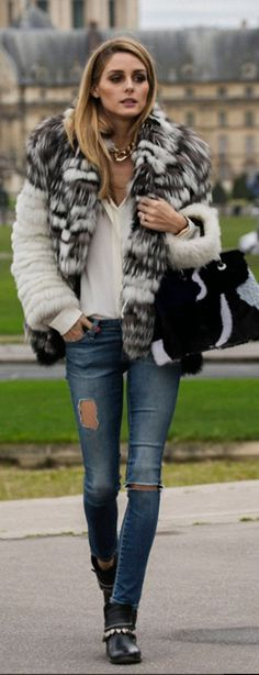Olivia Palermo wearing Purse – Fendi Jeans – AG Shoes – Freda Salvador