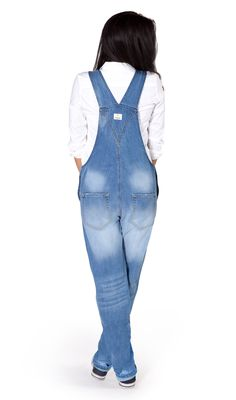 New USKEES Carmela Premium Women's Dungarees - Pale Wash  £54.99 #dungarees #overalls #biboveralls