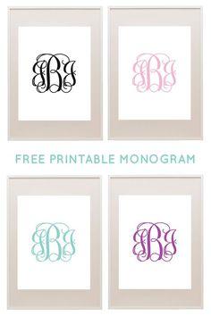 Free printable monograms from printablemonogram.com #freeprintable #monogram