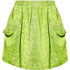 Vivienne Westwood Anglomania Scale neon textured-jacquard mini skirt (£143) found on Polyvore