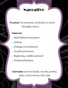 What is narrative style and how do you prove it?