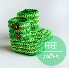 crochet-baby-booties-green-zebra