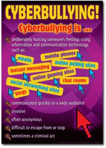 cyberbullying - print and hang in computer labs