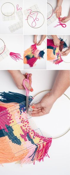 The best DIY projects & DIY ideas and tutorials: sewing, paper craft, DIY. Diy Crafts Ideas DIY Wall weaving - Page 2 of 2 - The House That Lars Built -Read Weaving Projects, Craft Projects, Yarn Crafts, Diy And Crafts, Weaving Wall Hanging, Diy Wall Hanging, Macrame Wall Hangings, Tapestry Wall Hanging, Diy Y Manualidades