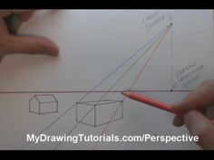 The perspective of shadows. To draw the shadow of a round object, sketch a cube around it, project the shadow of the cube, and estimate the round within. myb