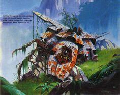 Spaceship-wrecks by Fred Gambino, from Stewart Cowley's 1979 art...